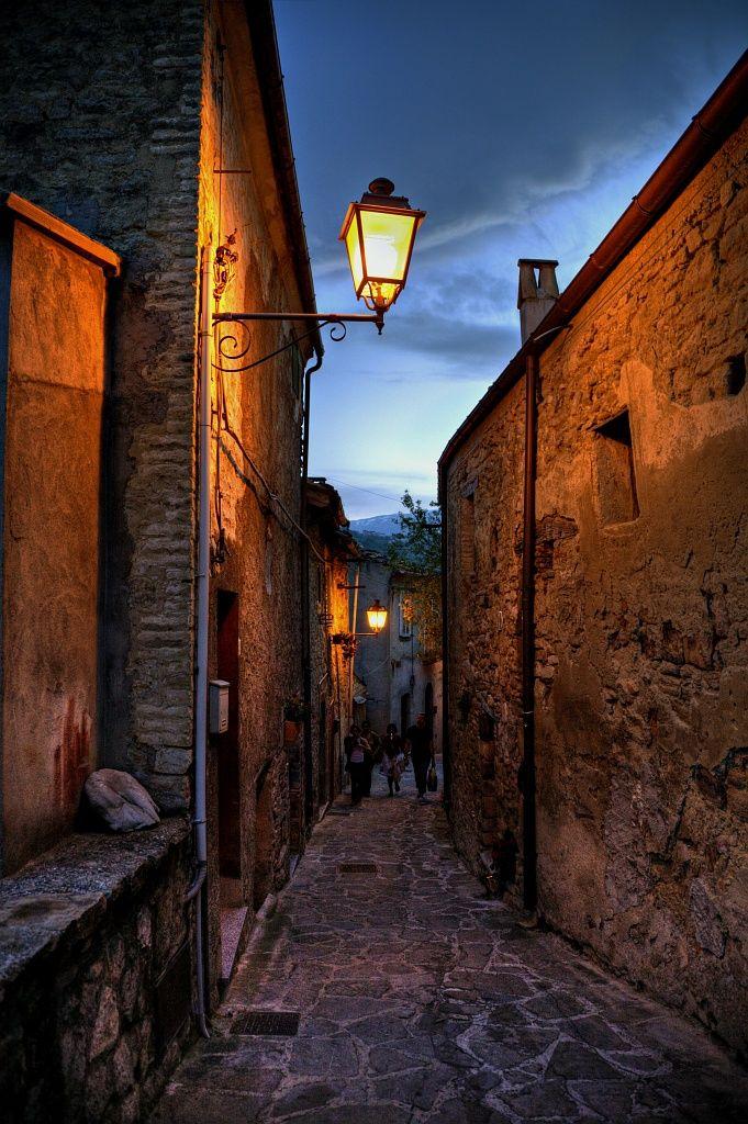 Roccascalegna's backstreets, province of Chieti , Abruzzo , Italy