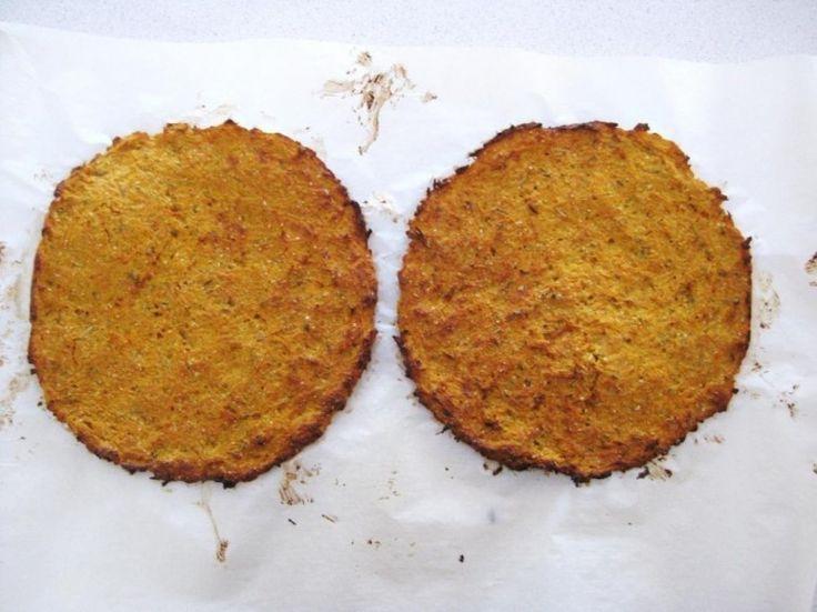 pizza de zanahoria- hornear