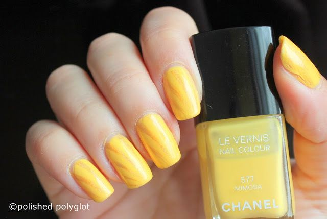 """Nail art  Summery Sunshine Yellow Nails [26GNAI]   Hello sweeties! Happy Friday! If there is something that screams summer even harder than yellow nails it is yellow nails stamped with golden holographic nail polish! Blinding happy sunshine effect guaranteed! I did this very simple design for the26 Great Nail ArtIdeas challenge prompt """"Sunshine"""". I hope you like it!  This is such an easy and quick manicure that there is no excuse for not trying it out! If yellow is not your colour then do it…"""