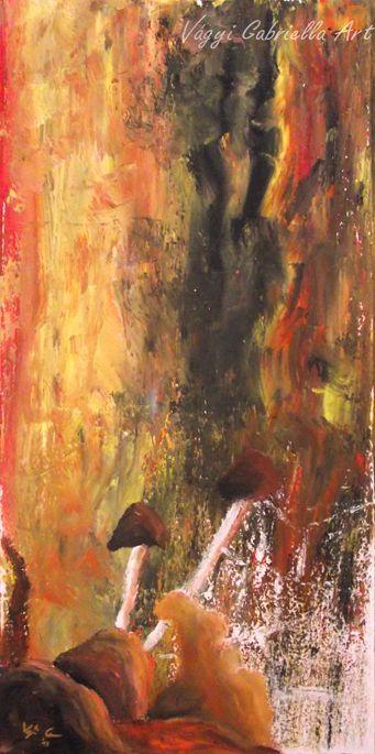 Őszi gombák című kép #művészet #festmény #ősz #gomba #colorful