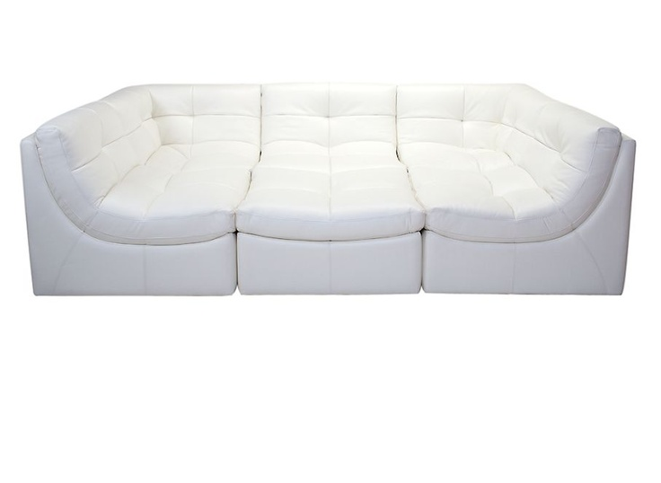 The most amazingly comfortable couch ever in life! If I owned this I wouldn't need a conversation nook!!    ~Z Gallerie - Cloud Modular Sectional - White