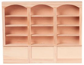Wide Wooden Bookcase
