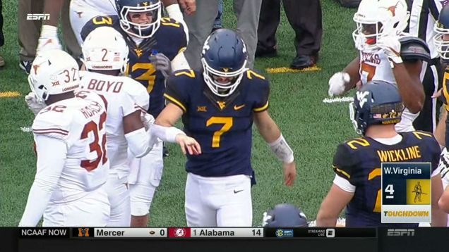 Is Will Grier Flipping You The Bird, Or Is There Something Terribly Wrong With His Finger