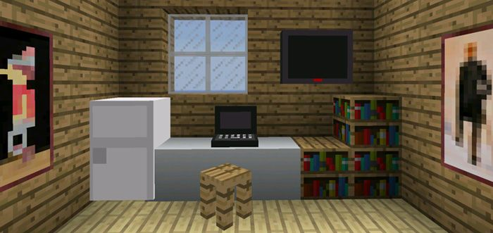 In this game, there is a great improvement in the design of 4 blocks. These blocks refer to electronics and furniture. Compared to other versions, this is an additional feature that contributes to building up the newest beta. Other amazing features of the game are a fridge and a TV... https://mcpebox.com/decoration-pack-beta-minecraft-pe/