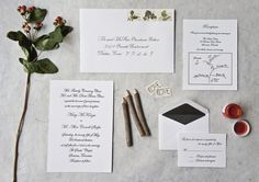 Custom calligraphy and letterpress invitation suite for a beautiful Sewanee, TN wedding! Envelope calligraphy matches the invitation, reply card and hand-drawn map. www.fleurcalligraphy.com?utm_content=buffere3675&utm_medium=social&utm_source=pinterest.com&utm_campaign=buffer  Please credit the above site when re-pinning! Thanks! http://fleurcalligraphy.com/gallery?utm_content=bufferdca05&utm_medium=social&utm_source=pinterest.com&utm_campaign=buffer#/id/i5544423