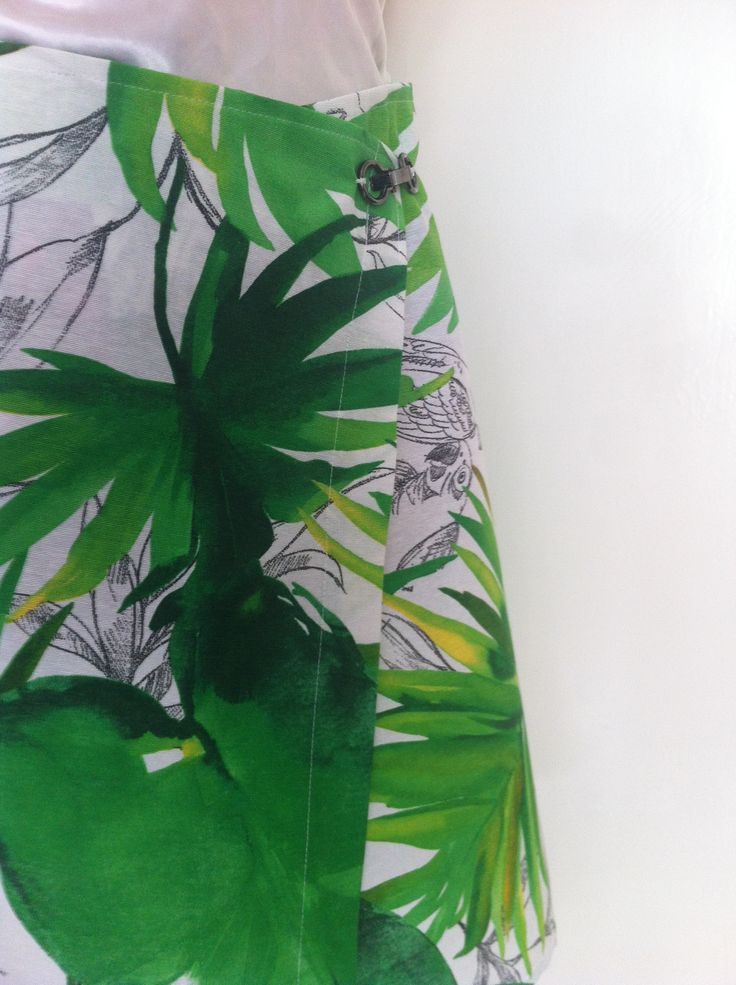 #wrap #skirt #midi #tropical #jungle