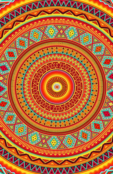 Mandala Azteca  Impresión De arte por Diego Tirigall