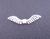 Antique Silver Tone Wing 26x4mm