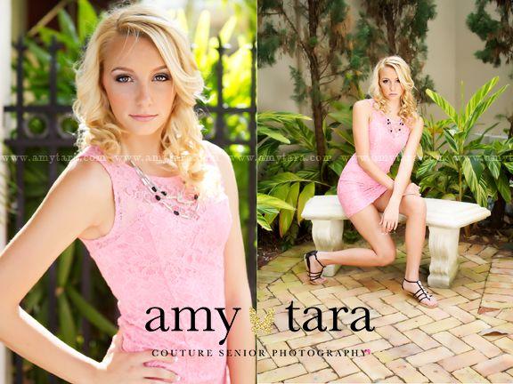 www.amytara.com   high school senior portrait photographer   Jupiter, FL   senior girl poses, glamour, fashion, pink lace dress, green eyes, elegant, color, black and white, vintage, natural light, backlight, high school senior pictures.