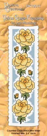 Cross-stitch bookmark - Yellow Roses - Friendship – NZ Fabrics & Yarn