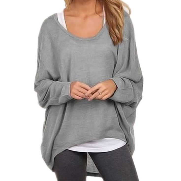 >> Click to Buy << Womens Casual Loose Knitwear Hi-Low Irregular Hem Punk Shirt Blouse Oversize Batwing Long Sleeve Baggy Jumper Tees Pullover Tops #Affiliate