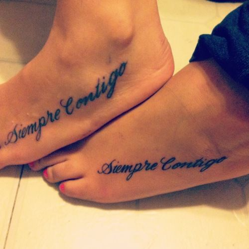 Tattoo Foot Tattoo Always With You Ink