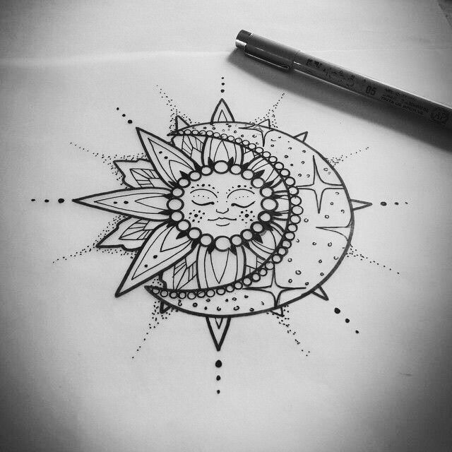 Sun and moon...without the face in the middle