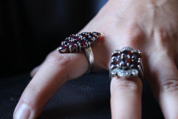 Due anelli pietre viola di BlueCecile su Etsy