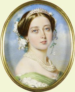Miniature Portrait Of Queen Victoria