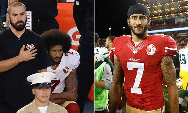 Colin Kaepernick's decision not to stand for the national anthem apparently has made his San Francisco 49ers jersey very popular.