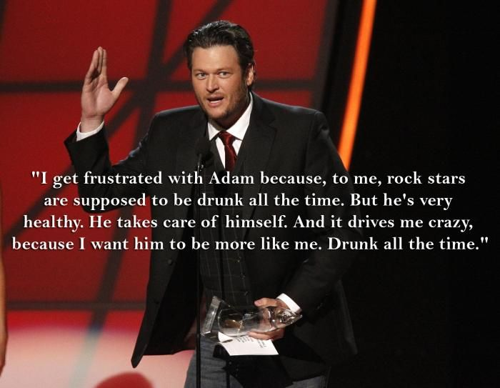 Adam Levine and Blake Shelton | Why Blake Shelton Wants Adam Levine to Start Drinking | Fox News ...