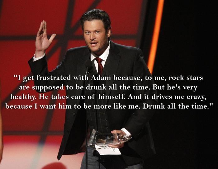 Adam Levine and Blake Shelton   Why Blake Shelton Wants Adam Levine to Start Drinking   Fox News ...