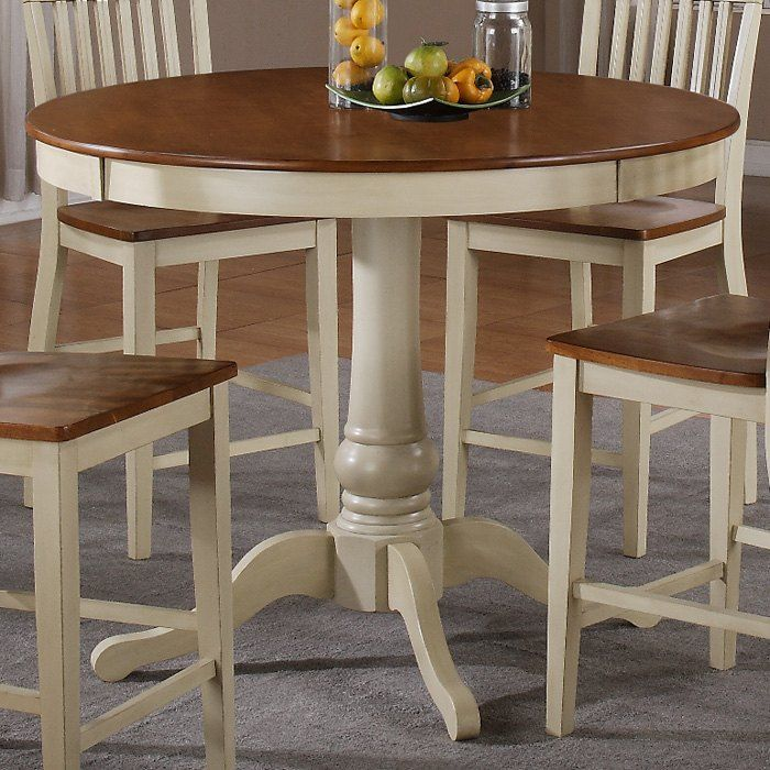 Candice Round Counter Table Antique White