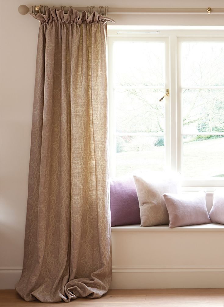 17 best images about bay windows on pinterest bay window for Window seat curtains