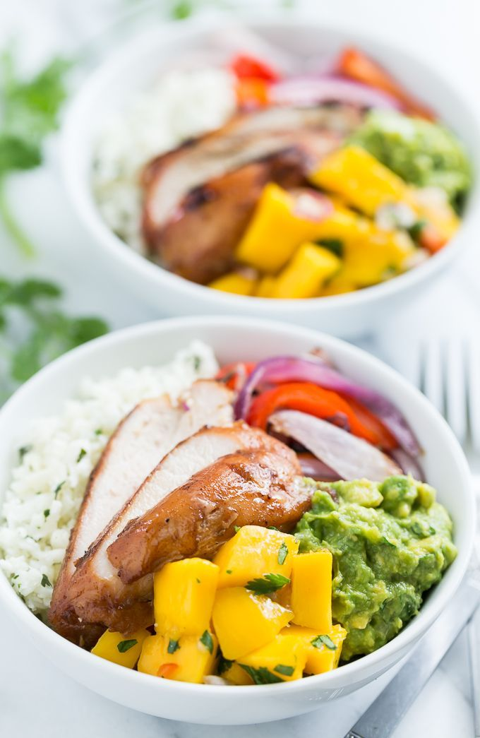 Paleo Burrito Bowls with Mango Salsa | Get Inspired Everyday!