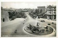 Italy 1930s Real Photo Postcard Roma Rome - Piazza dell Esedra con la Fontana