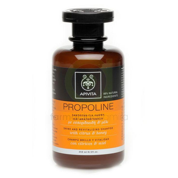 Apivita Propoline champú brillo vitalidad, ideal ya que revitaliza el cabello dejándolo brillante, energiza, tonifica, protege de las puntas abiertas, mantiene la hidratación y la elasticidad. Es perfecto para el cabello débil, apagado, sin brillo.
