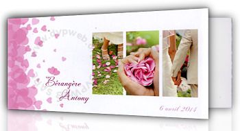 Faire-part mariage Edit66 Ref 722029