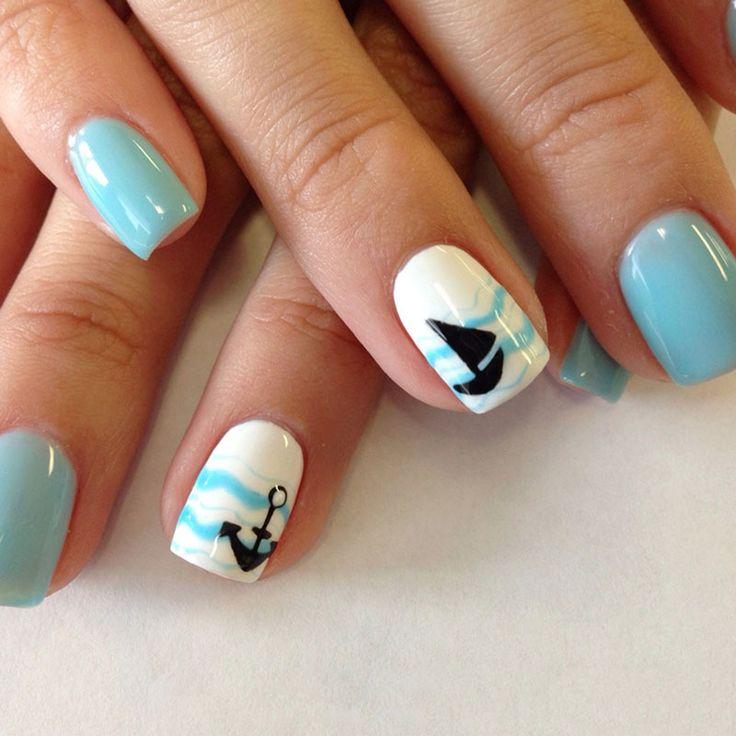 Mejores 172 imágenes de nails light blue en Pinterest   Decoración ...