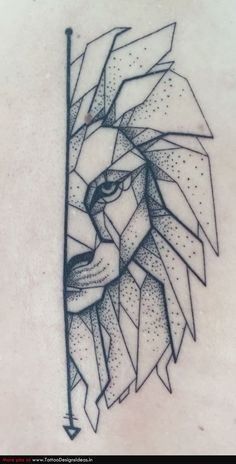 My geometric lion with dotwork