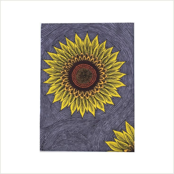Sunflower Drawing, Yellow Sunflower Sketch, Modern Sunflower Artwork, Original Flower Illustration, Yellow Grey Abstract Sunflowers Wall Art by deejavuart on Etsy https://www.etsy.com/uk/listing/544607324/sunflower-drawing-yellow-sunflower