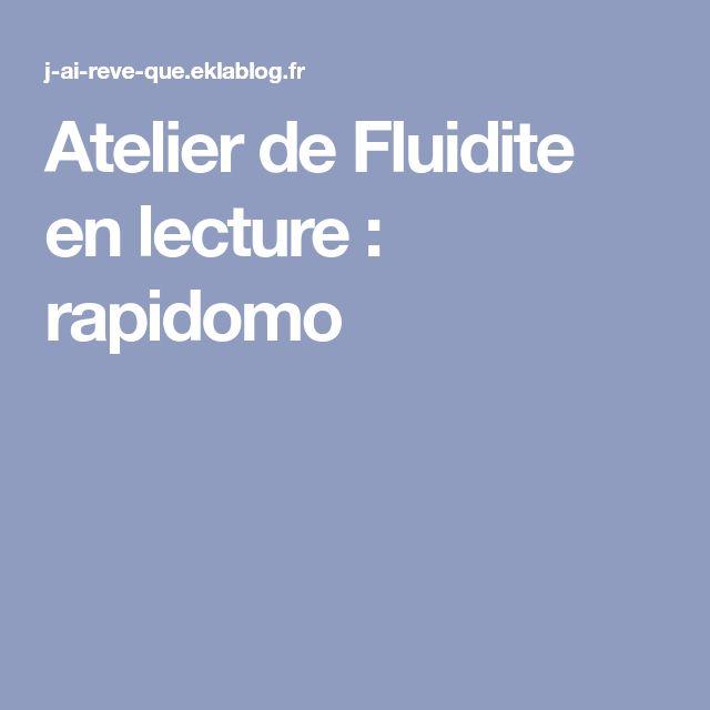 Atelier de Fluidite en lecture : rapidomo