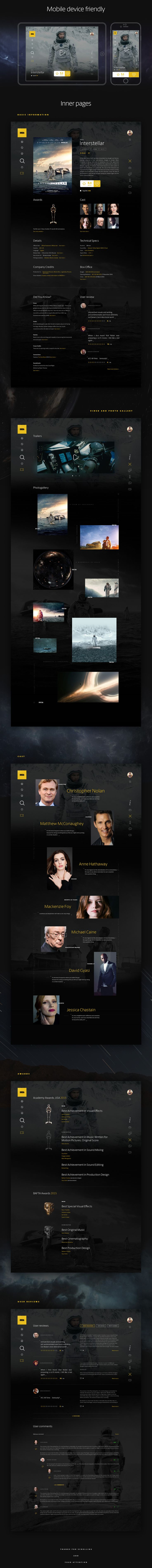 IMDB Concept 2016 (Movie detail page) on Behance