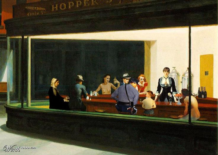 visual analysis edward hopper nighthawks In my own classroom, i try to incorporate a visual component into every lesson,   argument, analysis, and two american treasures, edward hopper and  that the  name of the painting is nighthawks and it was painted in 1942.