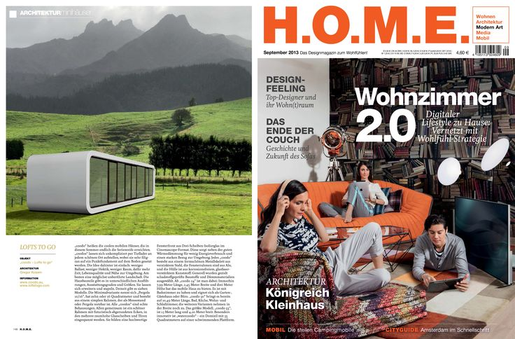 coodo has been featured in the September 2013 Issue of H.O.M.E. (in German)! www.home-mag.com