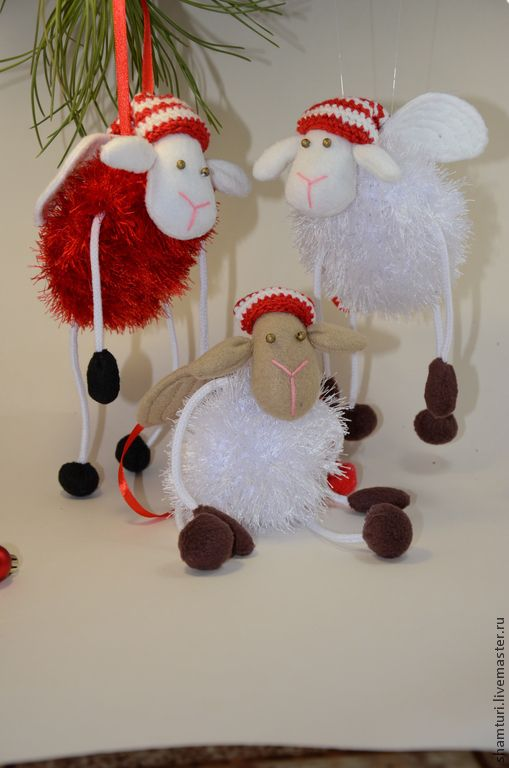 658 best sheep images on pinterest felt felt art and for Sheep christmas ornament craft