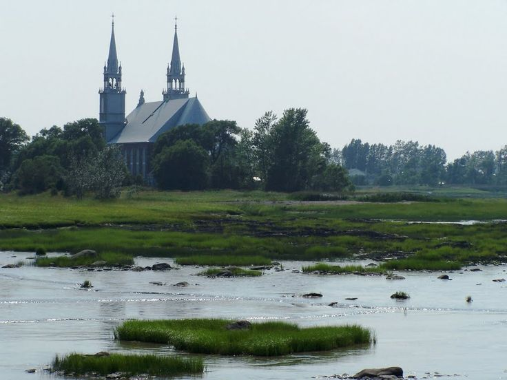 St-Roch-des-Aulnaies depuis le Havre du Quai, Qc.