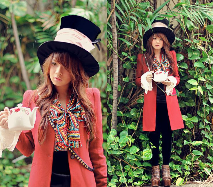 Displaying 17> Images For - Homemade Mad Hatter Costume For Women... -- I LOVE this hat.  I wonder if someone could make a hat for me like this one.