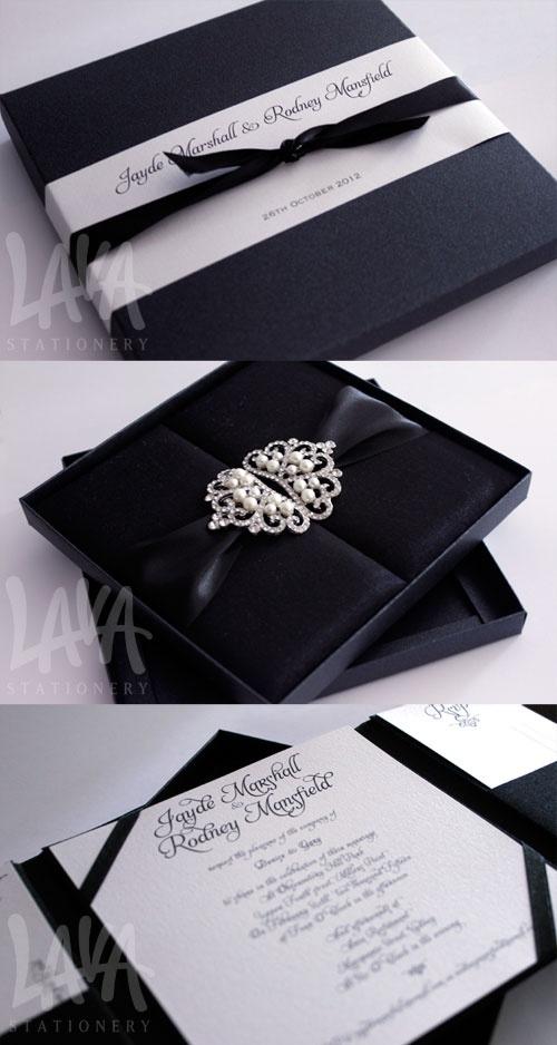 Thai silk invitation box by Lava Stationery