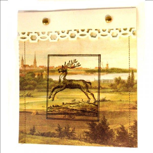 Genähte Geschenktüten aus alten Buchseiten