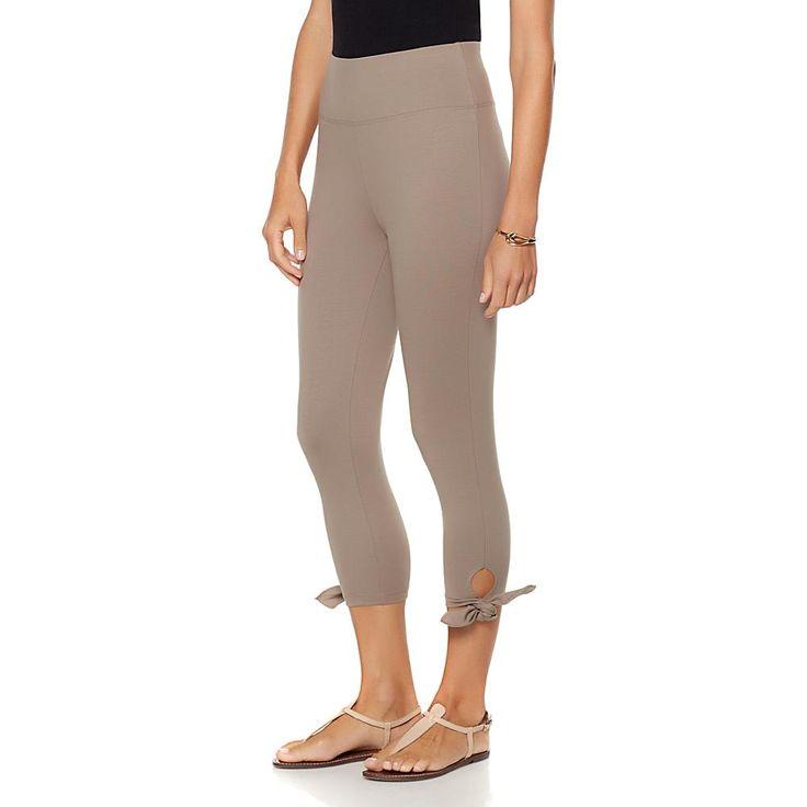 DG2 by Diane Gilman Side-Tie Capri Legging - Tan