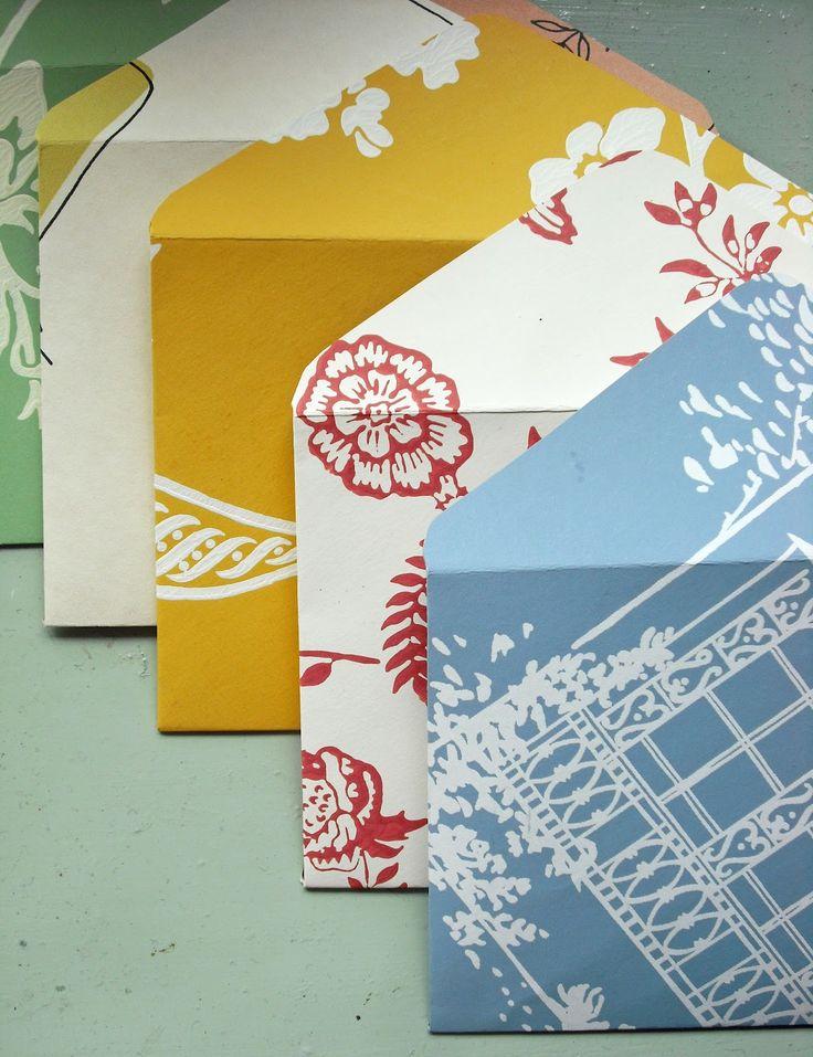 Homemade envelopes: Paper Envelopes, Scrapbook Paper, Pretty Handmade, Make Envelopes, Emily Summers, Paper Crafts, Craft Ideas, Summers Design, Handmade Envelopes