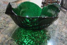 Vtg Viking Glass Bird Shaped Bowl Emerald Green