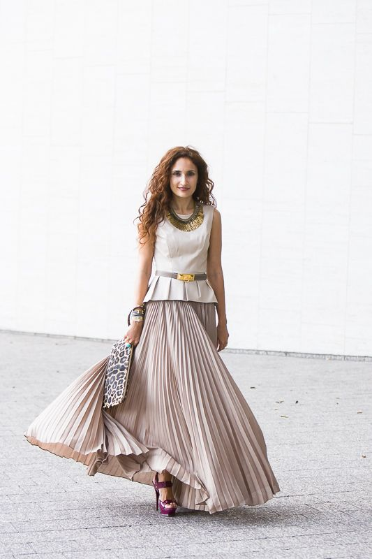 taupe skirt outfit - Google Search