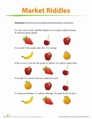 fruit riddles discover more ideas about logic puzzles worksheets and kindergarten. Black Bedroom Furniture Sets. Home Design Ideas