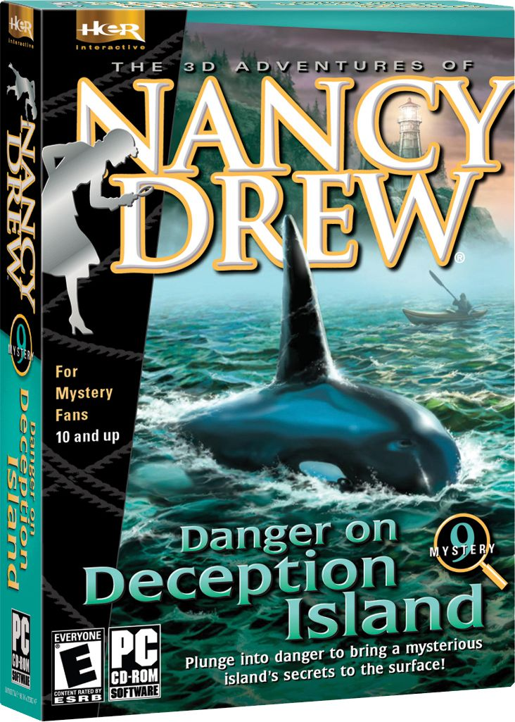 Nancy Drew: Danger on Deception Island computer game. Plunge into danger to bring a mysterious island's secrets to the surface! http://www.herinteractive.com/Mystery_Games/Nancy_Drew/Danger_on_Deception_Island/pc