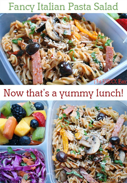 Oh, I could eat a lot of this fancy Italian Pasta Salad ... from The Roxx Box RECIPE HERE: http://bit.ly/17nVEJg