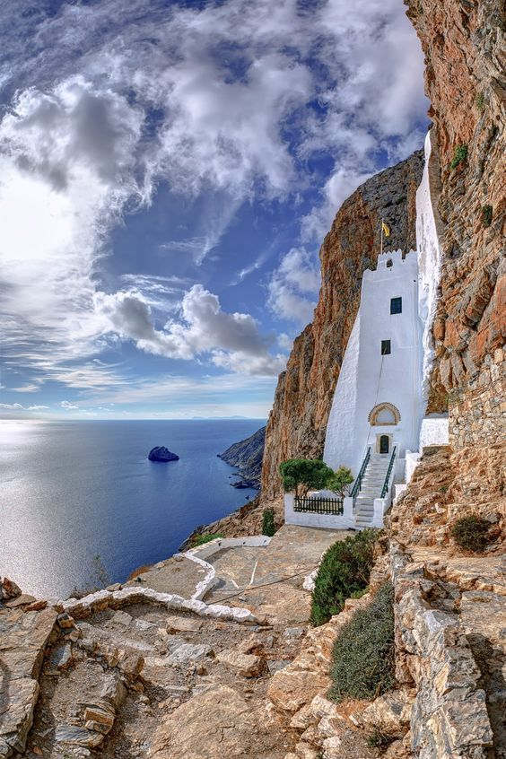 Panagia Chozoviotisa monastery, Amorgos Isl   Cyclades, Greece.