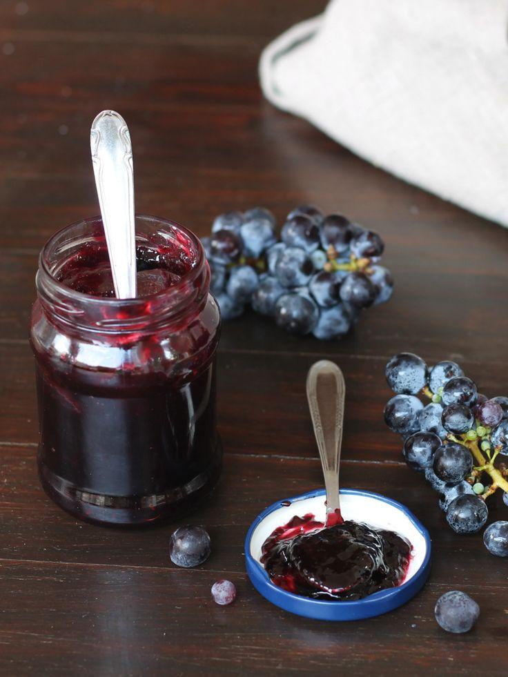 MARMELLATA DI UVA NERA ricetta facile confettura fatta in casa
