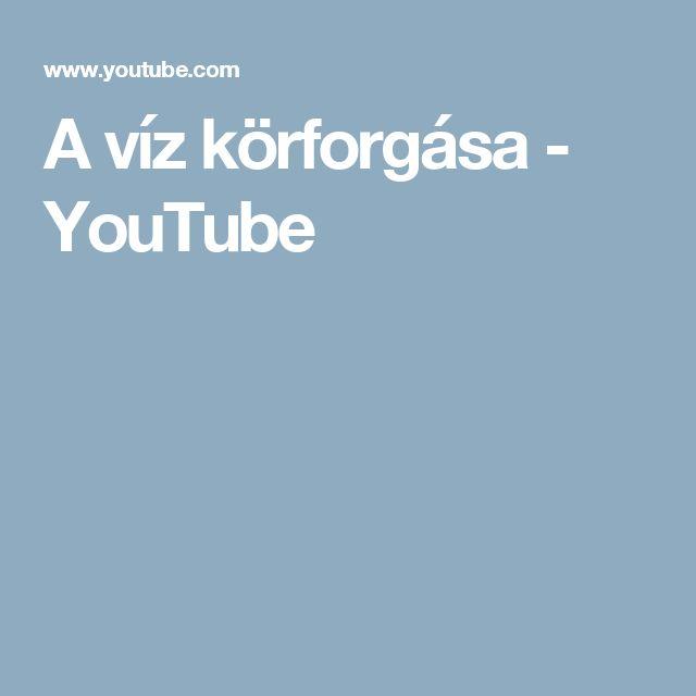 A víz körforgása - YouTube